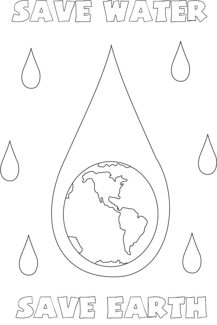 Water Coloring Books For Toddlers  Water Conservation For Kids Coloring Pages Coloring Home
