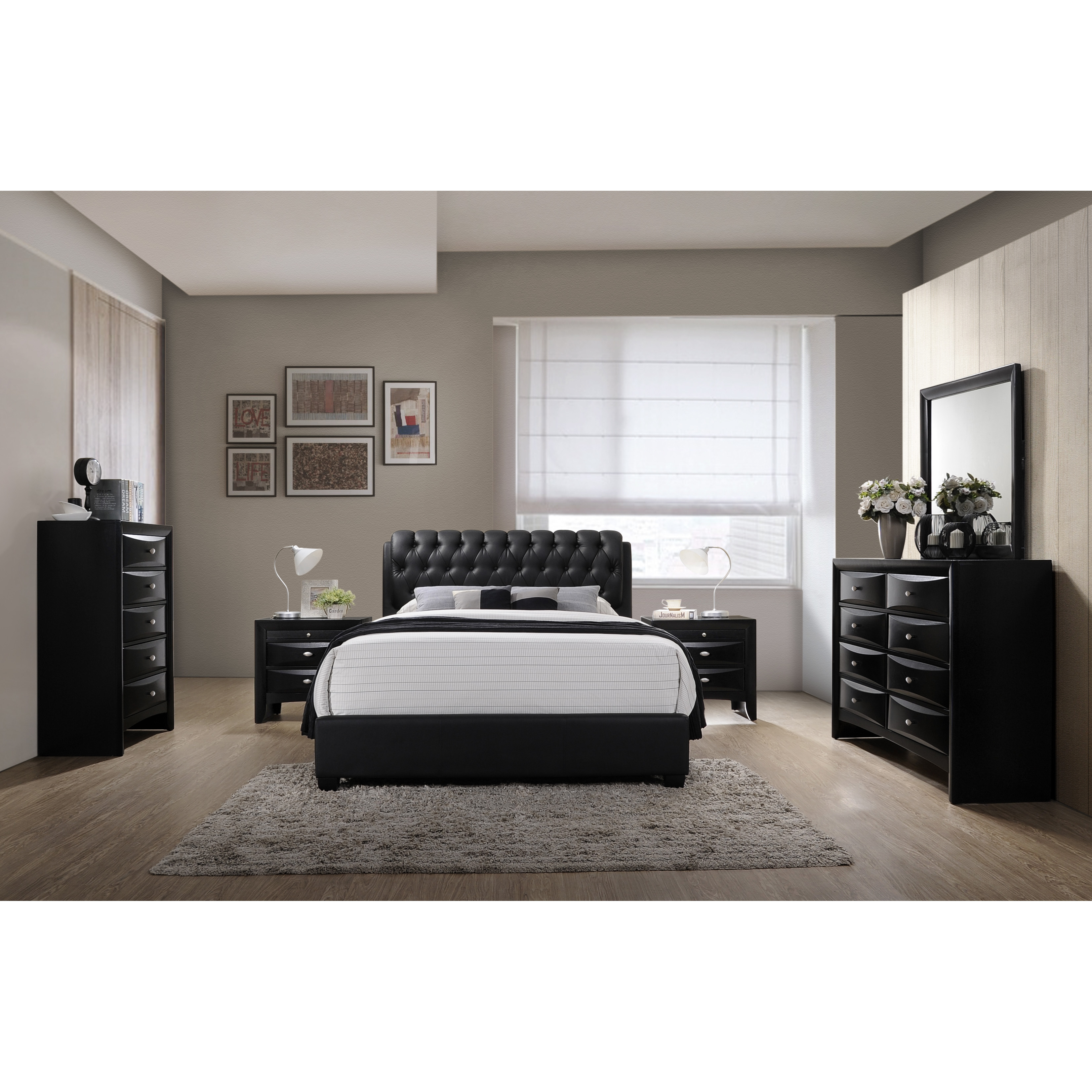 Best ideas about Wayfair Bedroom Sets . Save or Pin Roundhill Furniture Blemerey 6 Piece Bedroom Set Now.