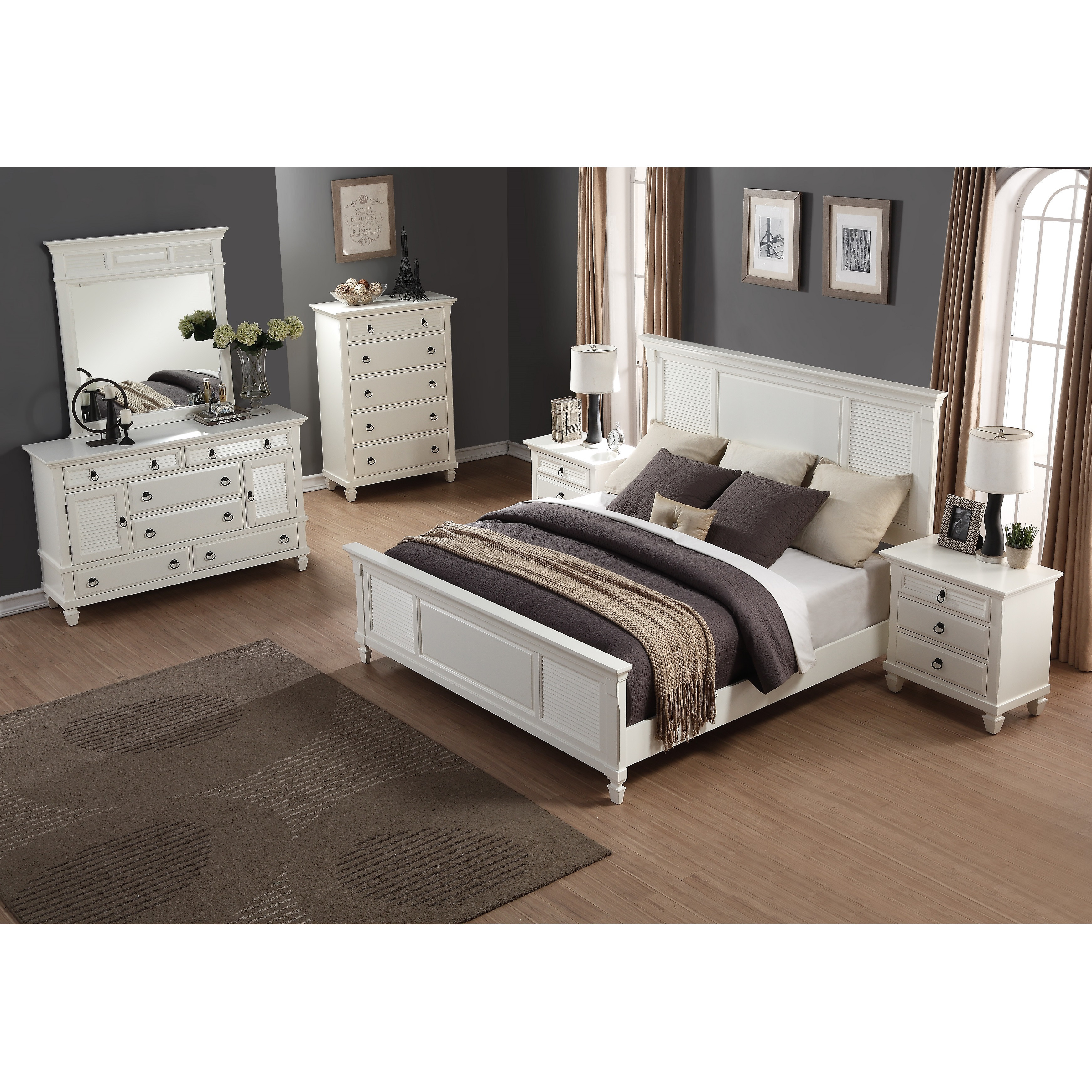 Best ideas about Wayfair Bedroom Sets . Save or Pin Roundhill Furniture Regitina Panel 6 Piece Bedroom Set Now.