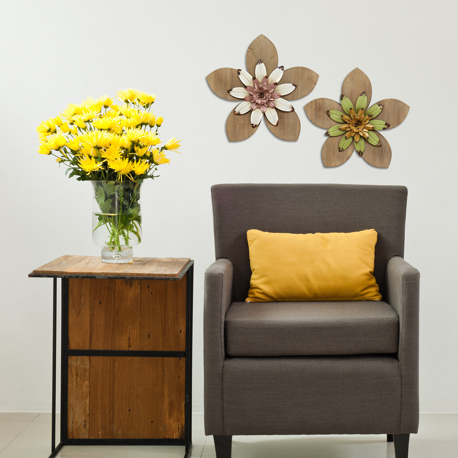 Best ideas about Wayfair Wall Art . Save or Pin Stratton Home Decor Rustic Flower Wall Décor Now.