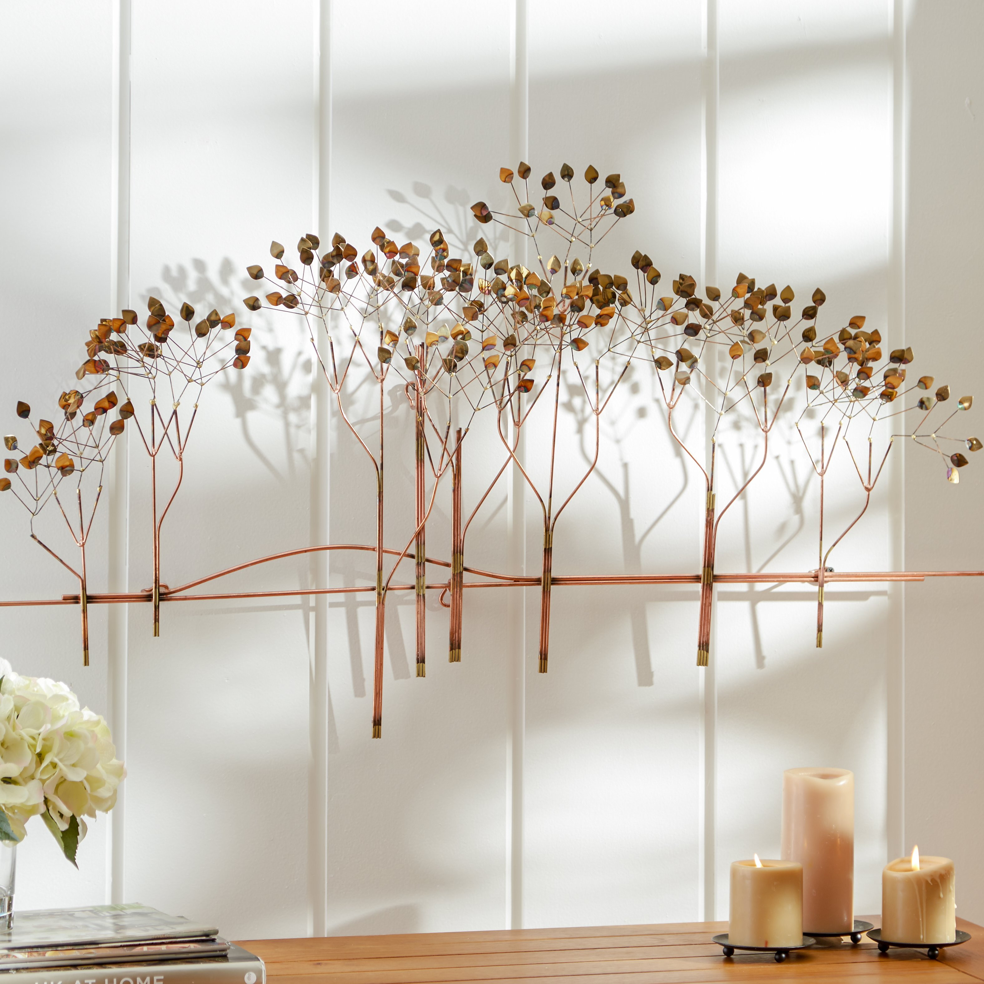 Best ideas about Wayfair Wall Art . Save or Pin Three Posts Golden Leaf Wall Décor & Reviews Now.