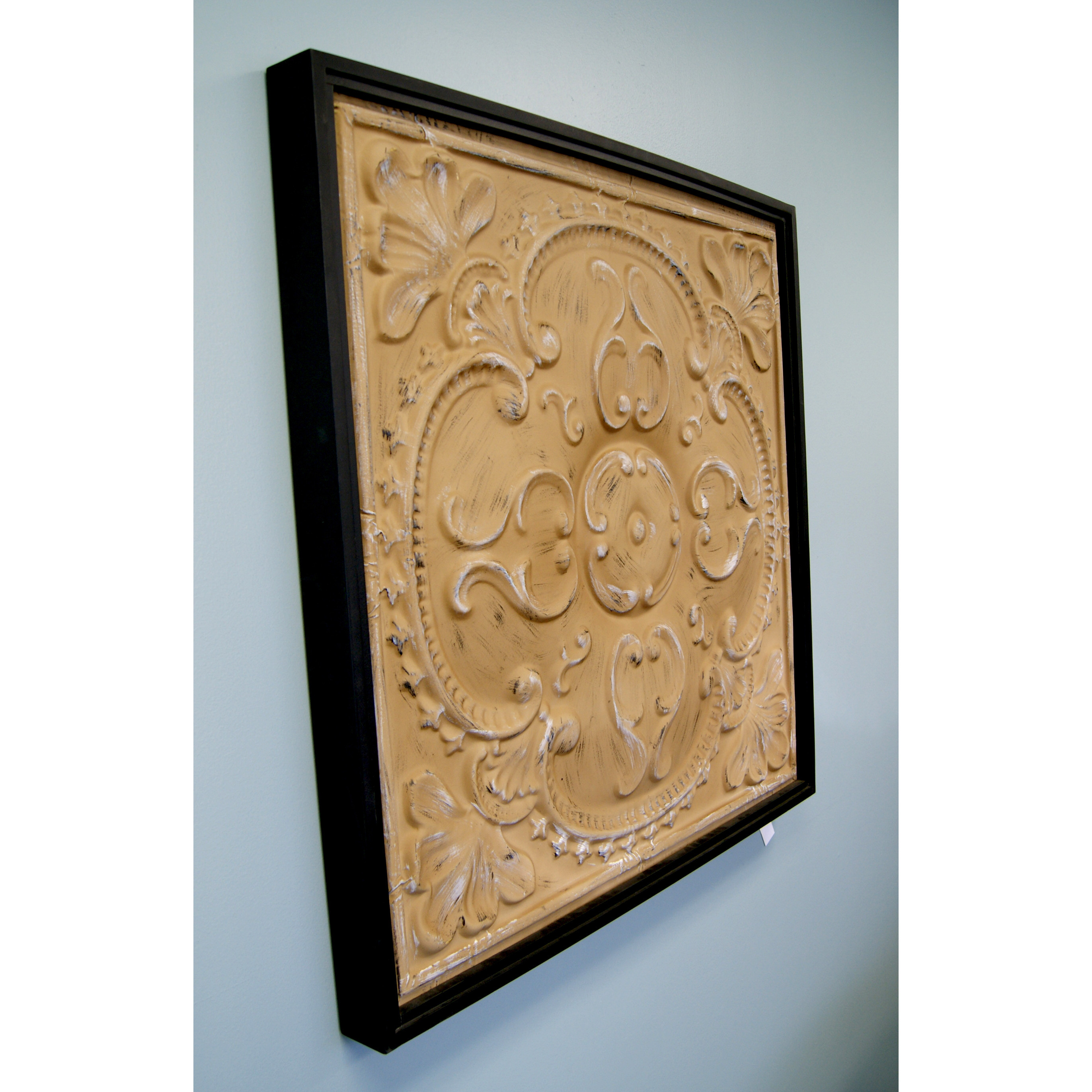 Best ideas about Wayfair Wall Art . Save or Pin HDC International Metal Tin Framed Tan Wall Decor Now.