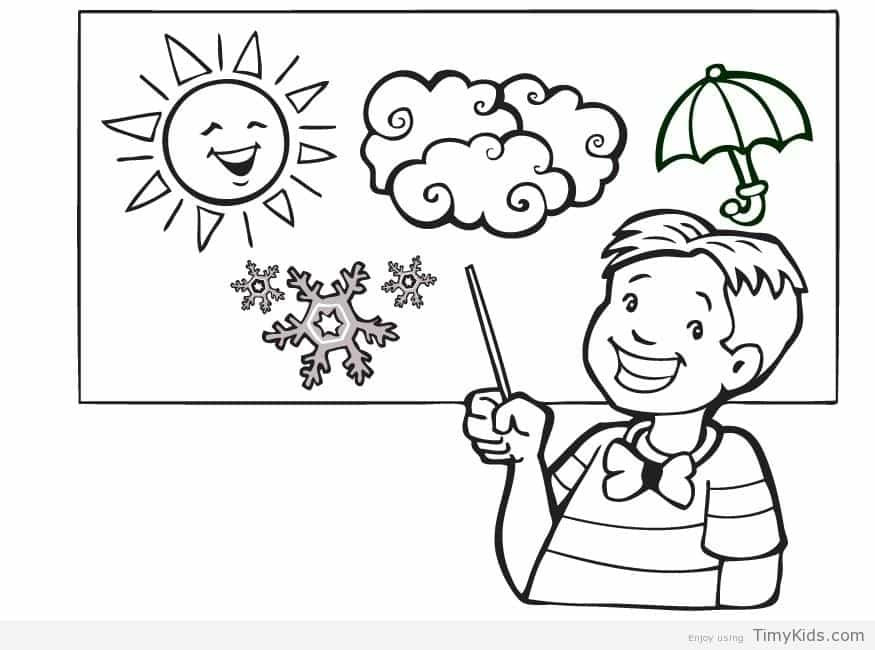 Weather Coloring Pages  weather coloring page