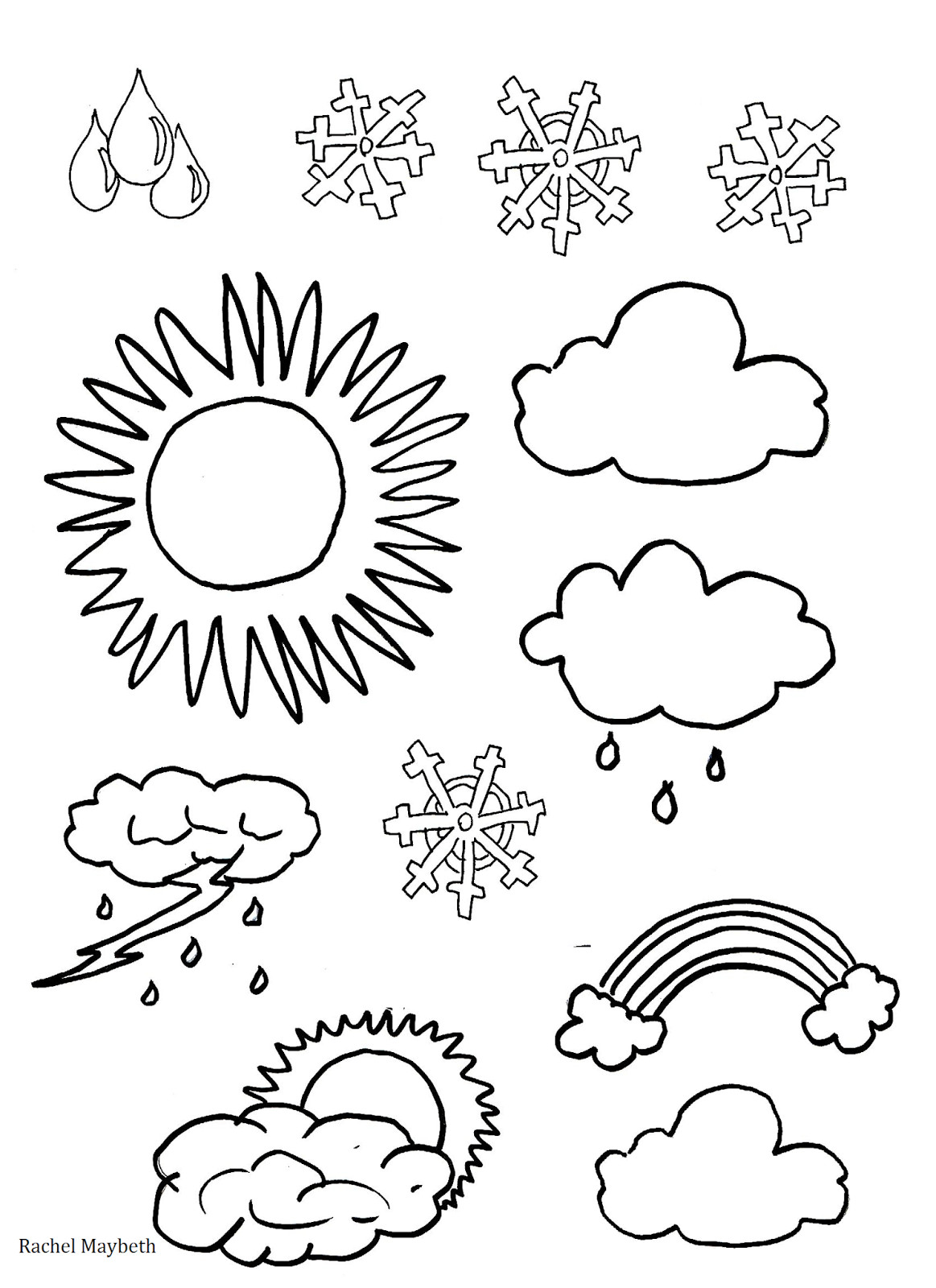 Weather Coloring Pages  Outstanding Weather Colouring Sheets Rachel Ma