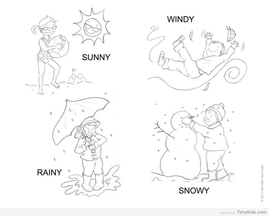 Weather Coloring Pages  weather colouring sheet