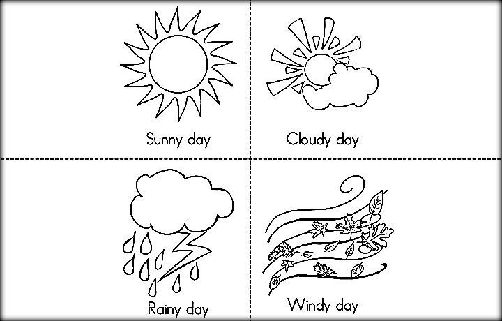 Weather Coloring Pages  Free Printable Weather Coloring For Preschool