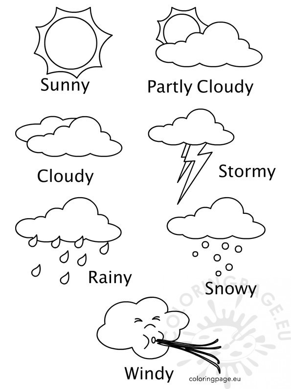 Weather Coloring Pages  Weather Coloring Sheets Printables