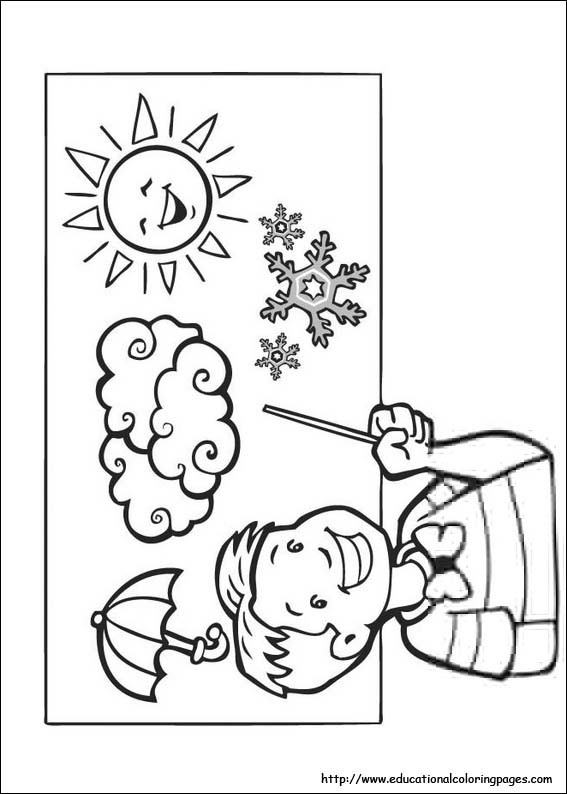 Weather Coloring Pages  Weather Coloring Pages free For Kids
