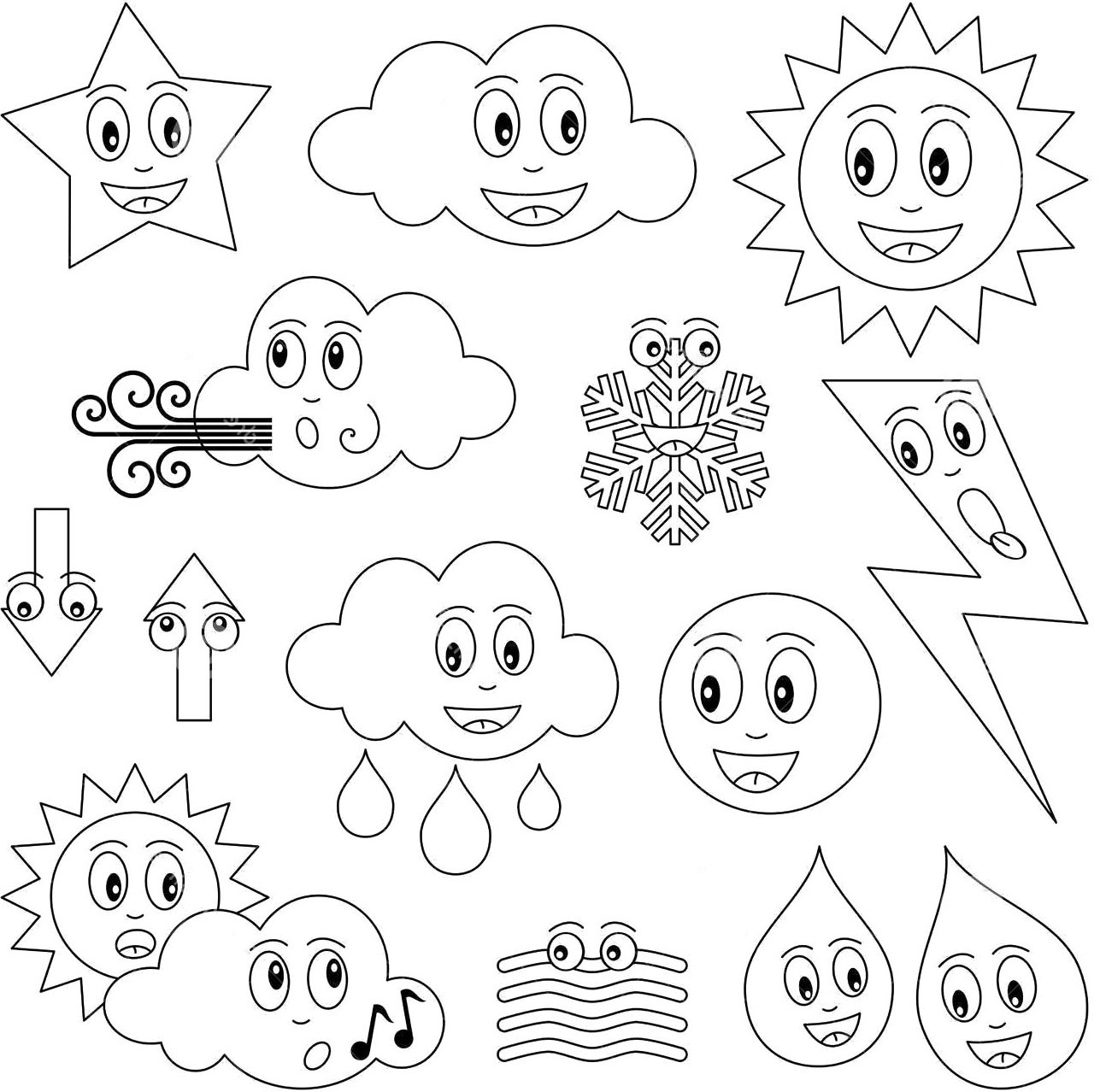 Weather Coloring Pages  Amazing Weather Coloring Book Beautiful Pages 18 Books