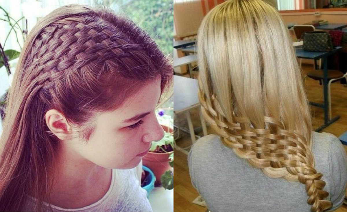 Weave Braid Hairstyles Pictures  Awesome Basket Weave Braids Hairstyles