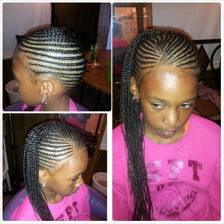 Weave Braids Hairstyles For Kids  Little Girl Braid Hairstyles With Weave