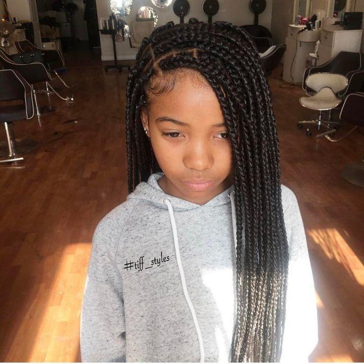 Weave Braids Hairstyles For Kids  Best 25 Kids box braids ideas on Pinterest