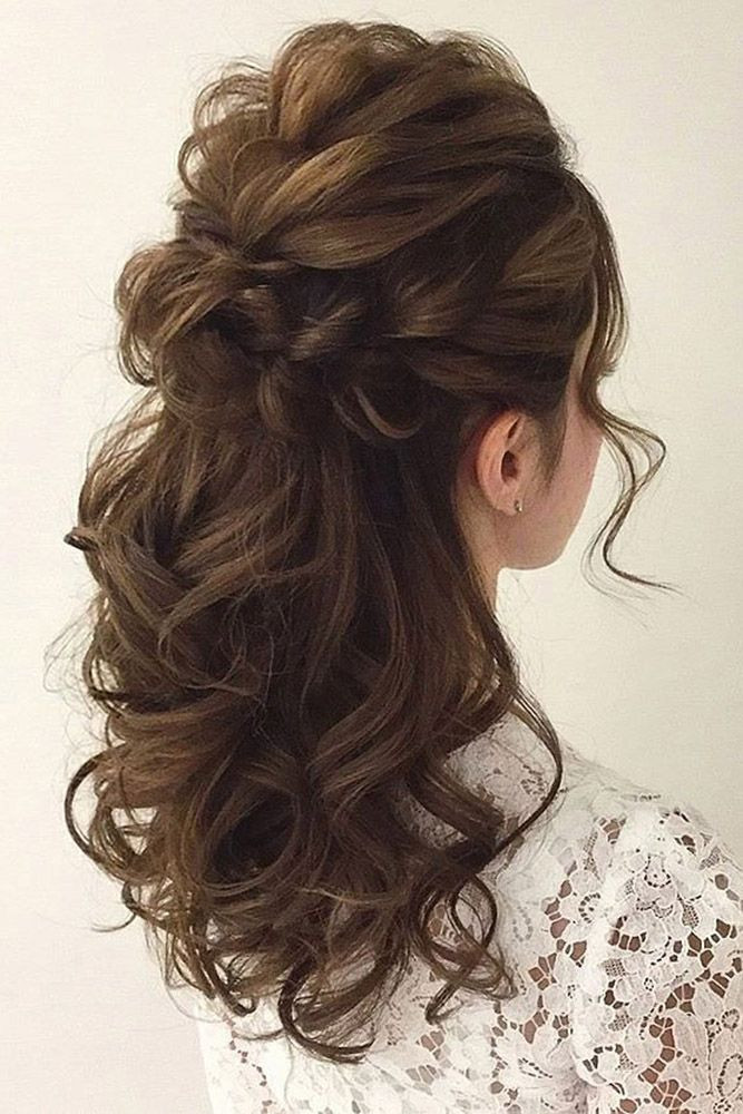Best ideas about Wedding Bride Hairstyle . Save or Pin Wedding Hairstyles Wedding Hair Half Up Ideas weddings Now.