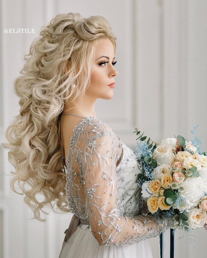 Best ideas about Wedding Bride Hairstyle . Save or Pin 18 beautiful wedding hairstyles down for brides and Now.