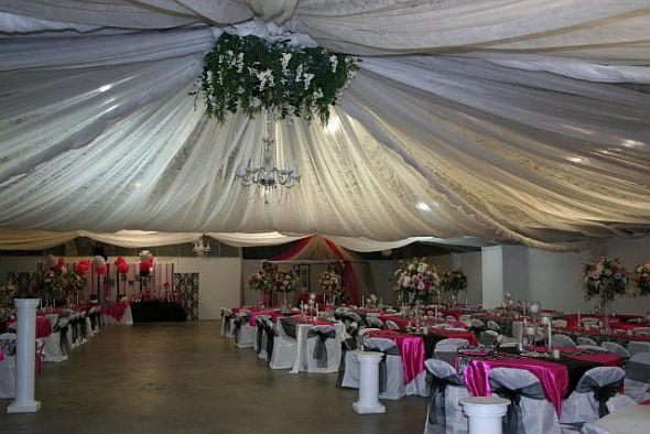 Best ideas about Wedding Drapes DIY . Save or Pin DIY ceiling draping at local fairgrounds Now.