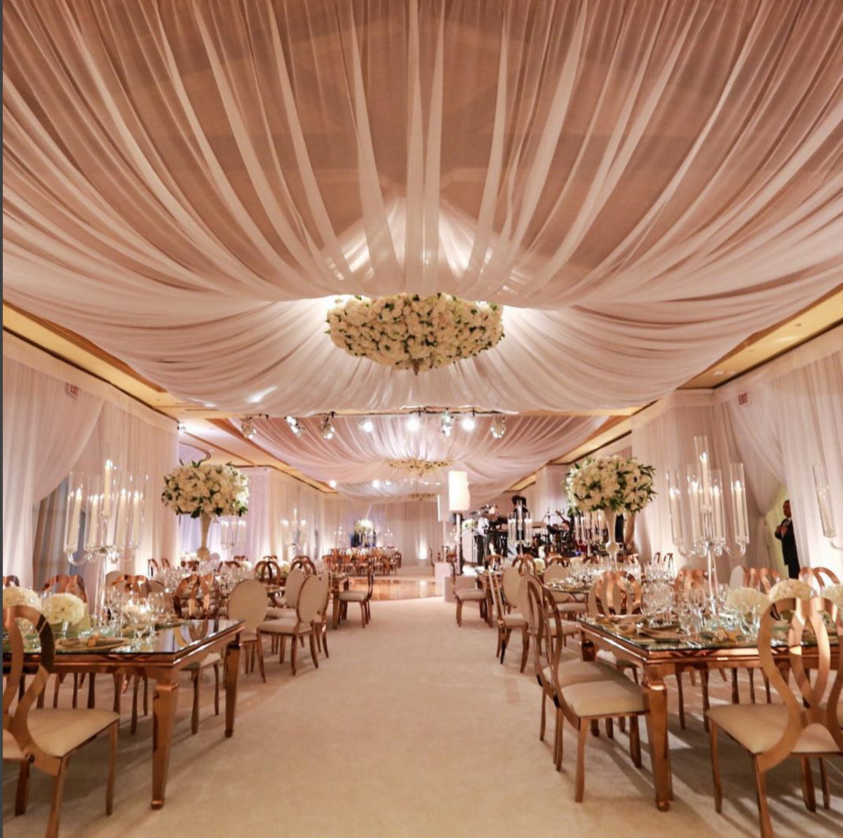 Best ideas about Wedding Drapes DIY . Save or Pin Bloom Box Designs wedding reception indoor wedding Now.