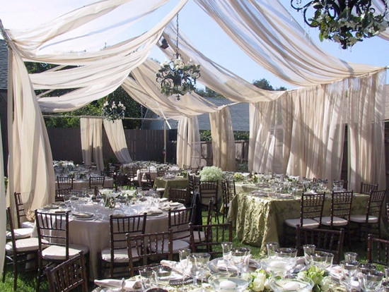 Best ideas about Wedding Drapes DIY . Save or Pin Outdoor Wedding Draping Weddings By Lilly Now.