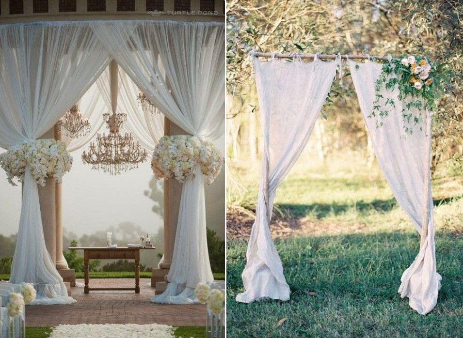 Best ideas about Wedding Drapes DIY . Save or Pin Aisle Style 20 Gorgeous and DIY able Drapes Chic Now.