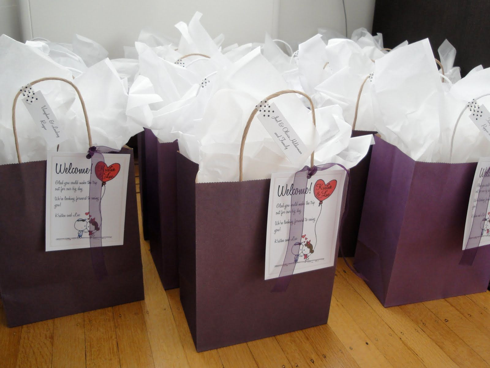 Best ideas about Wedding Gift Bag Ideas . Save or Pin t bags for wedding guests Google Search Now.