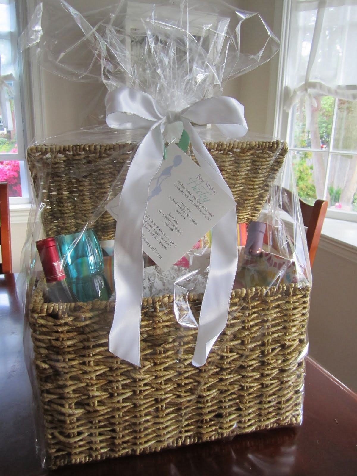 Best ideas about Wedding Gift Basket Ideas . Save or Pin unique wedding shower t basket ideas Bridal Shower Now.