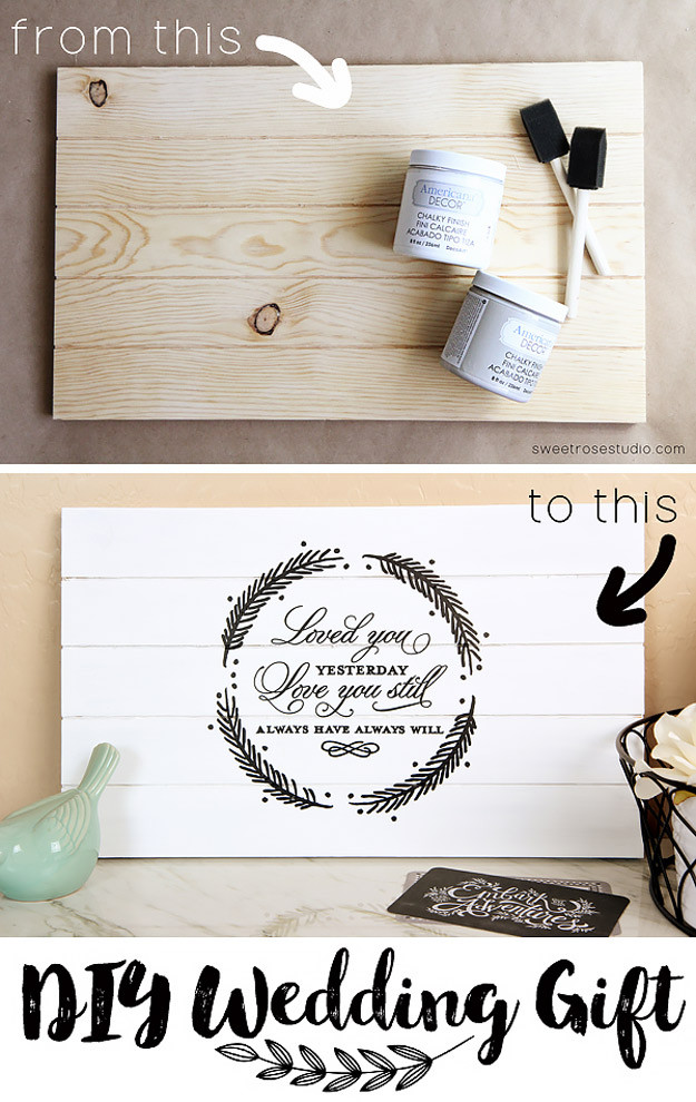 Best ideas about Wedding Gift DIY . Save or Pin 37 Expensive Looking DIY Wedding Gifts Now.