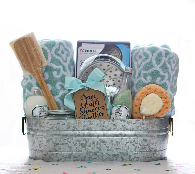 Best ideas about Wedding Gift DIY . Save or Pin Shower Themed DIY Wedding Gift Basket Idea Now.