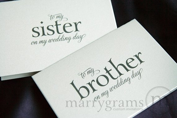 Wedding Gift Ideas For Brother  Wedding Gift For Sister And Brother In Law Gift Ftempo