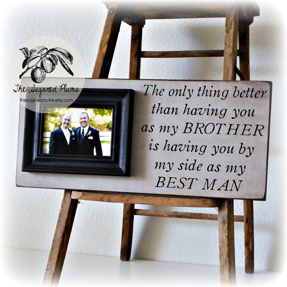 Wedding Gift Ideas For Brother  Best Man Gift Groomsman Groomsmen Brother Wedding Gift