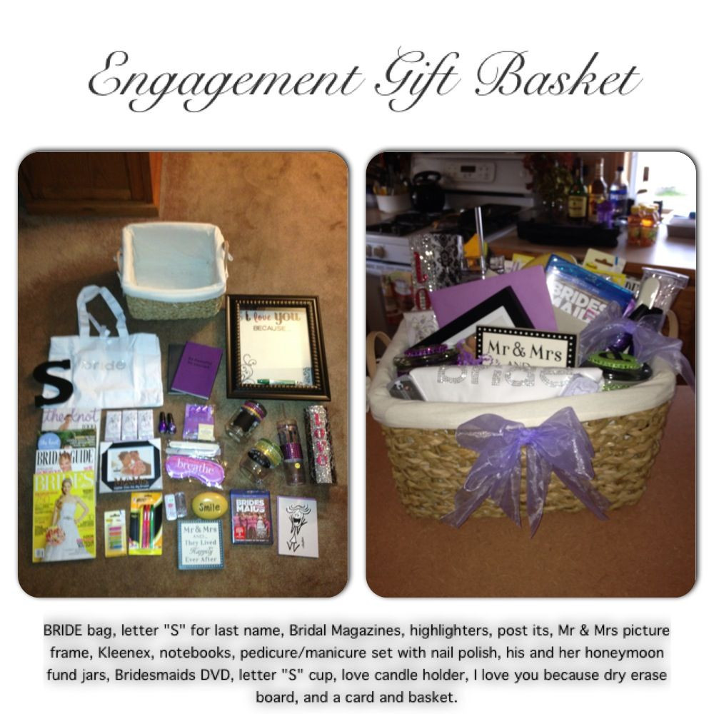 Wedding Gift Ideas For Brother  Engagement Gift Basket I made for my Brother and my soon