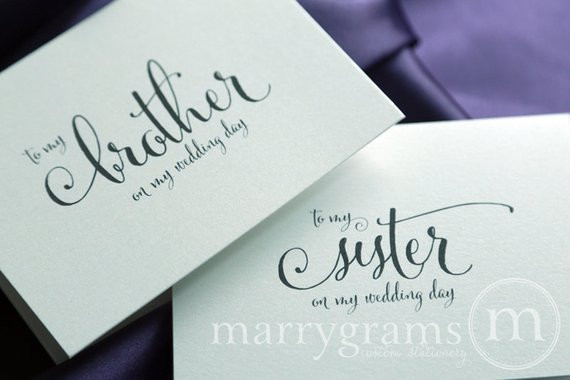 Wedding Gift Ideas For Brother  Wedding Card to Your Brother or Sister Siblings of the Bride