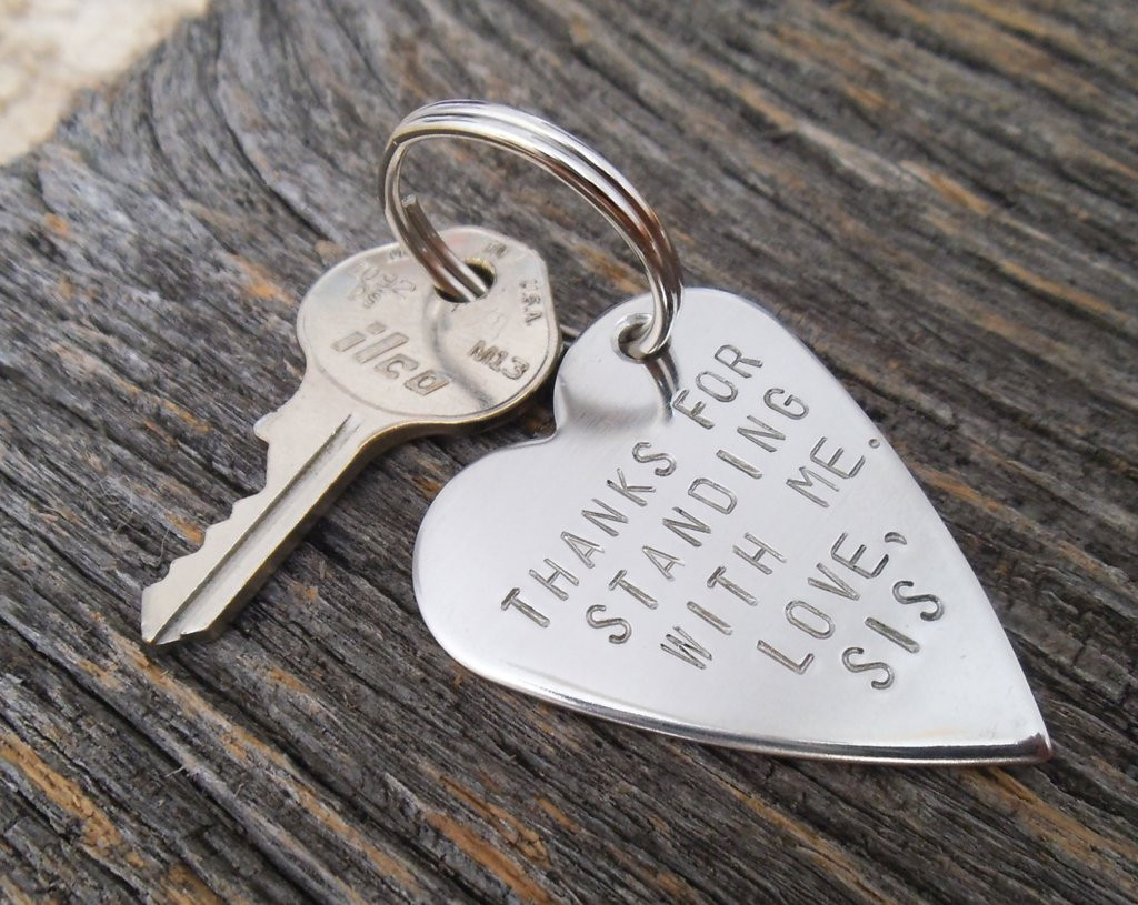Wedding Gift Ideas For Brother  Metal Keychain Wedding Day for Brother of the Bride Gift