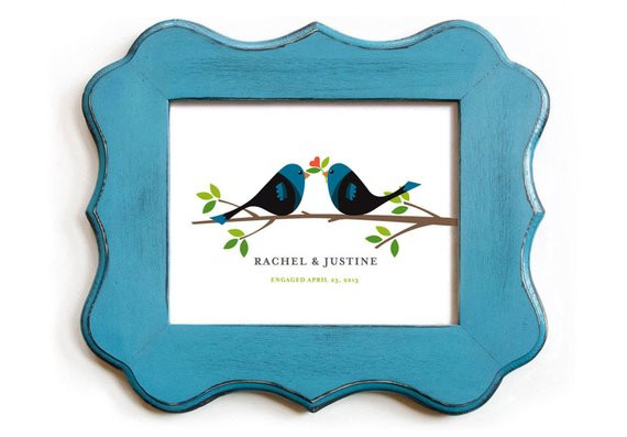 Best ideas about Wedding Gift Ideas For Gay Couple . Save or Pin Love Birds Gay Wedding Gift Lesbian Couple Personalized Unique Now.