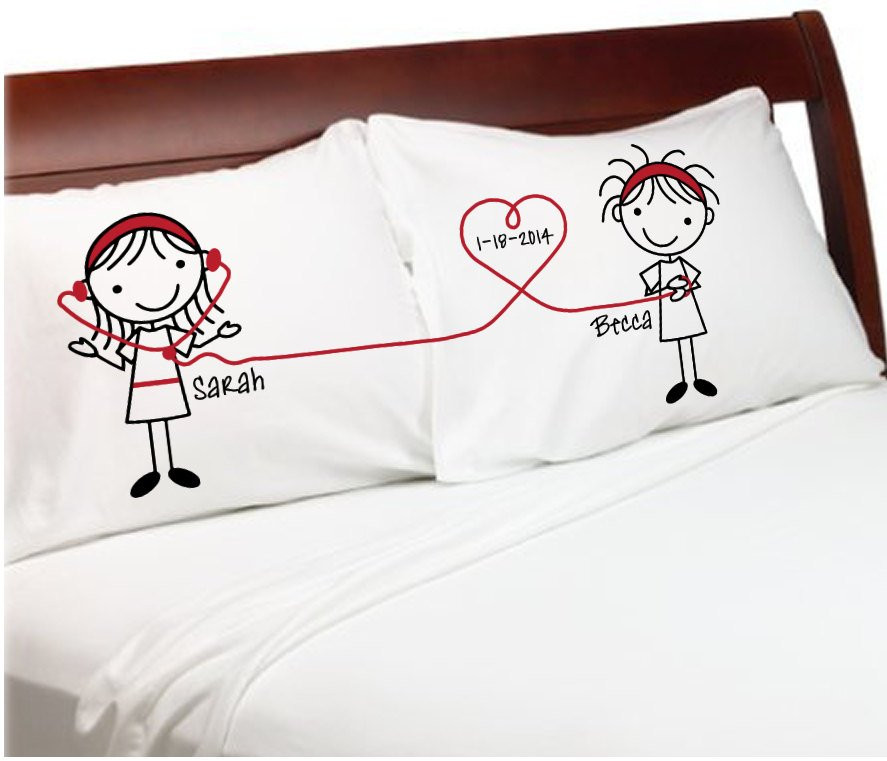 Best ideas about Wedding Gift Ideas For Gay Couple . Save or Pin Listen to My Heart Girlfriends Lesbian Couple Pillowcases Now.