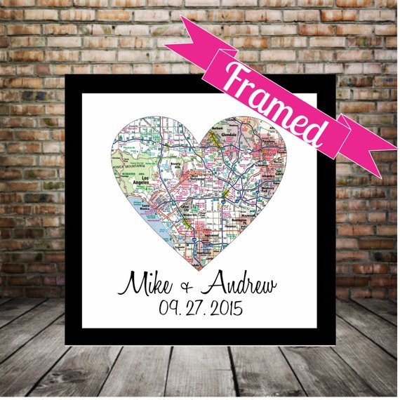 Best ideas about Wedding Gift Ideas For Gay Couple . Save or Pin Unique Gay Wedding Gift for Gay Couple Map Art by Now.