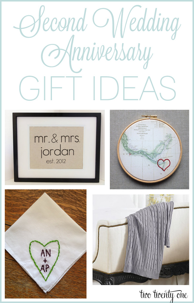 Wedding Gift Ideas For Second Marriages  Second Anniversary Gift Ideas