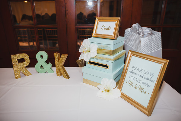 Best ideas about Wedding Gift Table Ideas . Save or Pin Pretty Mint Gold Wedding Reception in DC Rachel Kurt Now.