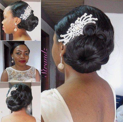 Best ideas about Wedding Hairstyles For Black Bridesmaids . Save or Pin 5 Irresistibly wedding medium hairstyles with side bun Now.