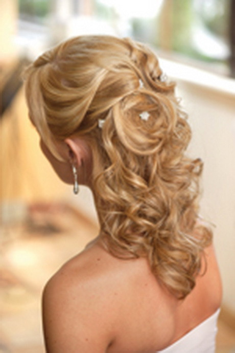 Wedding Hairstyles Half Up  Half up curly wedding hairstyles