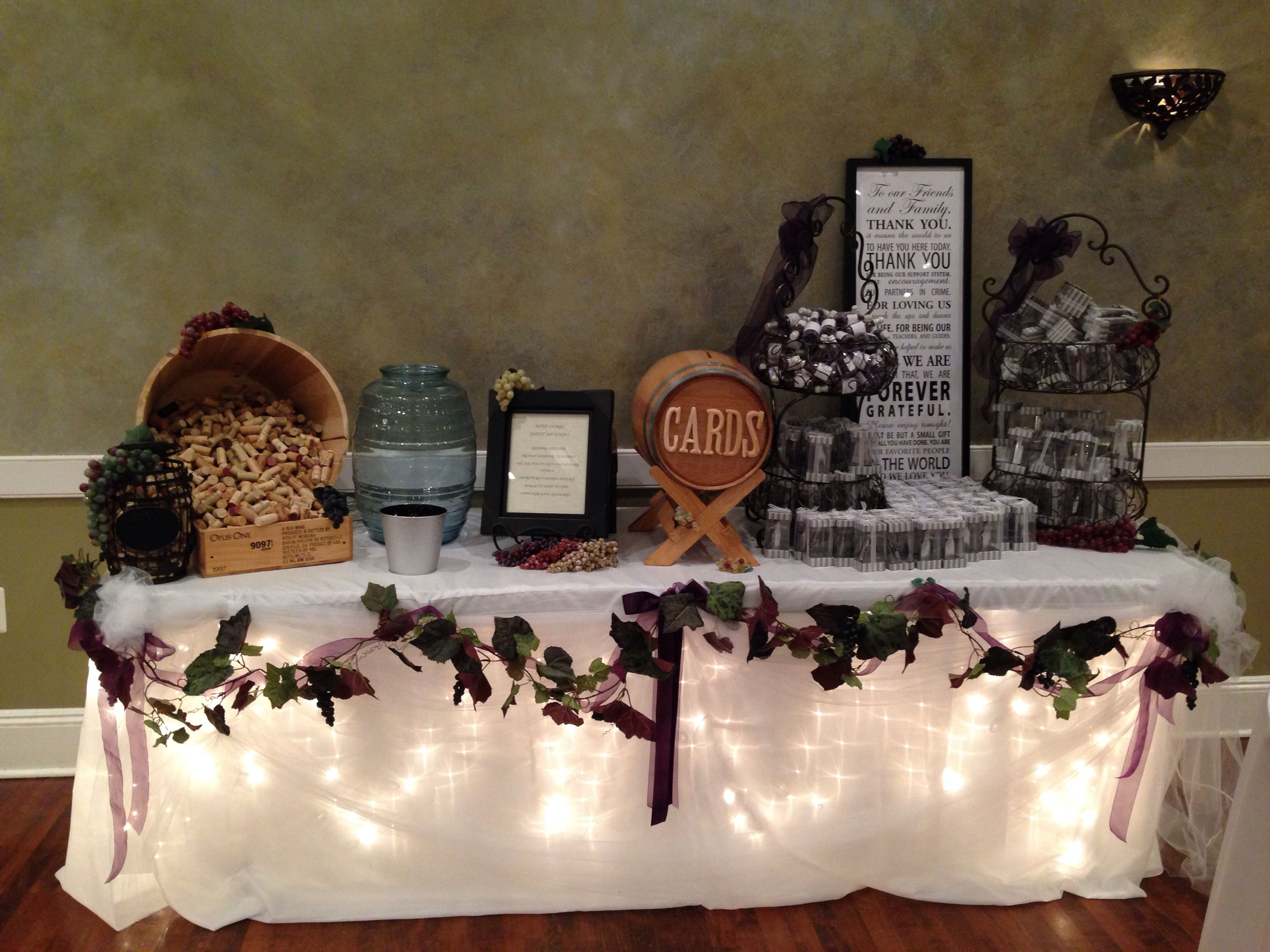 Best ideas about Wedding Reception Gift Ideas . Save or Pin Wine Theme Wedding Gift Table Wedding Decor Now.
