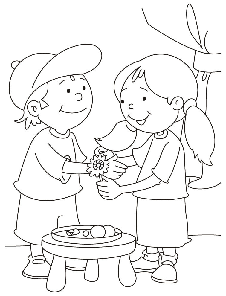 What To Do With Coloring Book Pages  Raksha Bandhan