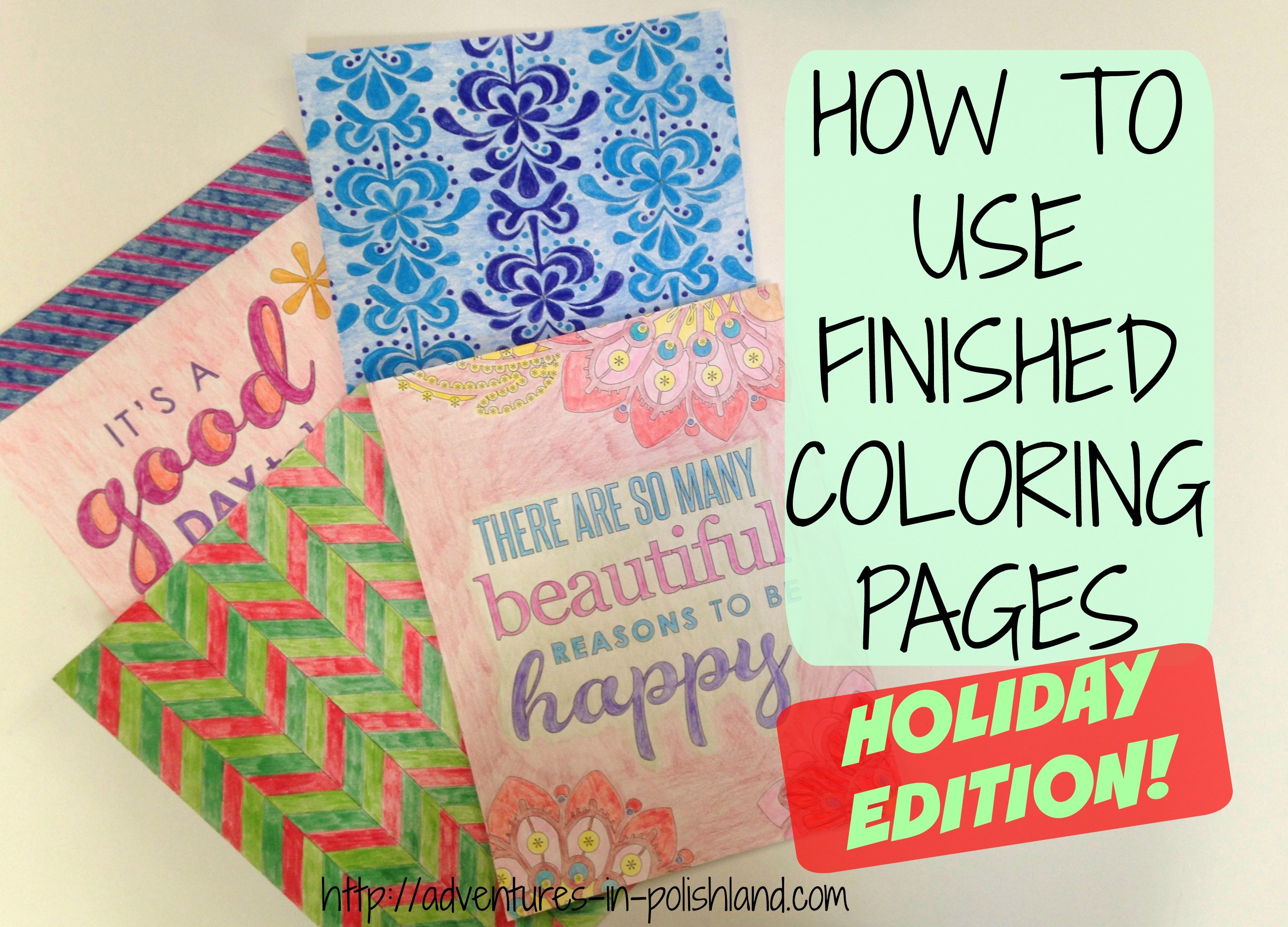 What To Do With Coloring Book Pages  How to Use Finished Coloring Pages