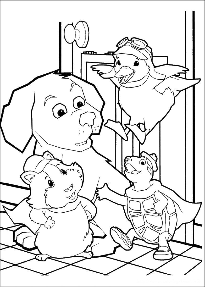 What To Do With Coloring Book Pages  Wonder Pets Coloring Pages
