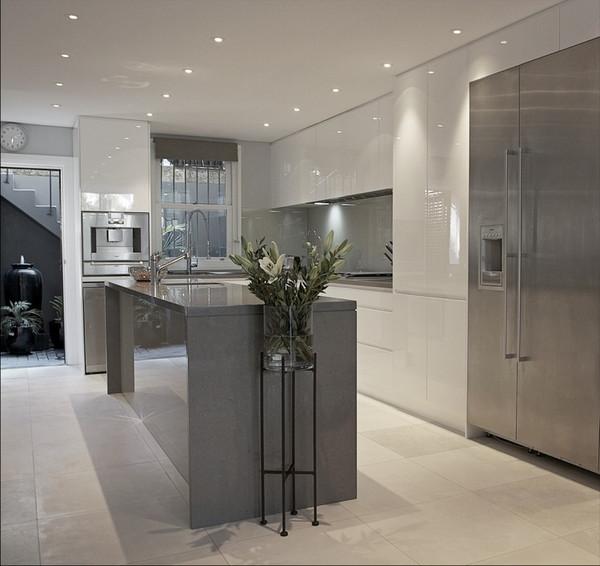 Best ideas about White And Grey Kitchen Ideas . Save or Pin Grey and white kitchen design ideas – trendy kitchen interiors Now.