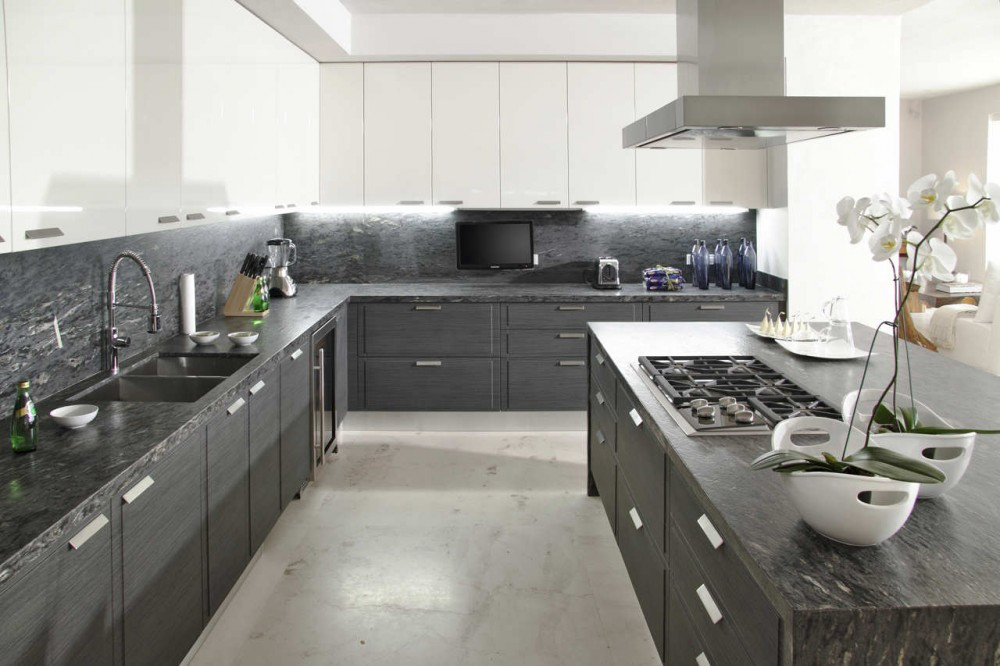 Best ideas about White And Grey Kitchen Ideas . Save or Pin Gray white kitchen Now.