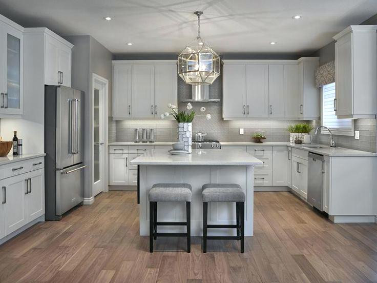 Best ideas about White And Grey Kitchen Ideas . Save or Pin Light Grey Kitchen Cabinets Best Floor Ideas Flooring Now.