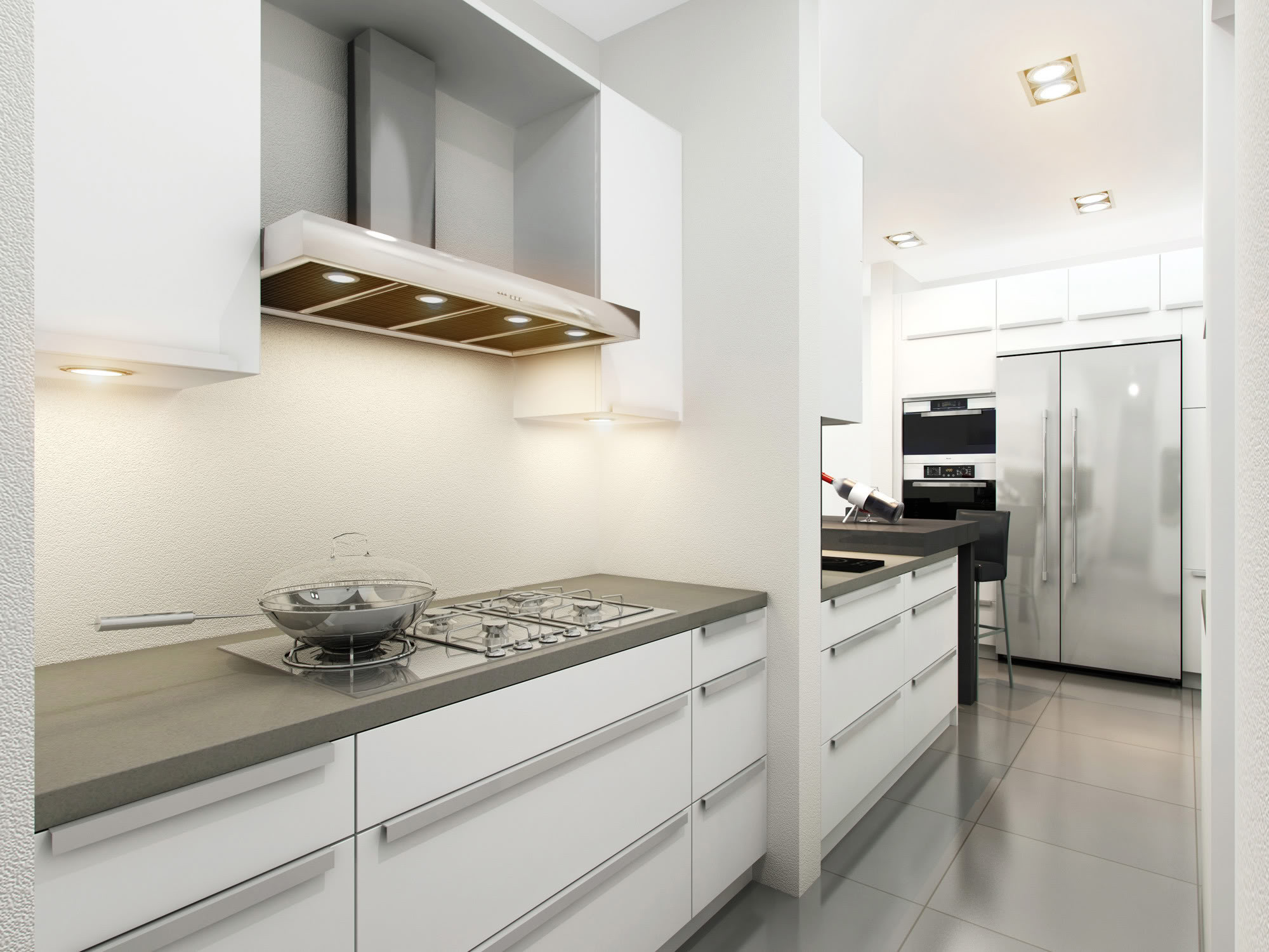 Best ideas about White And Grey Kitchen Ideas . Save or Pin White And Gray Kitchen Ideas Now.