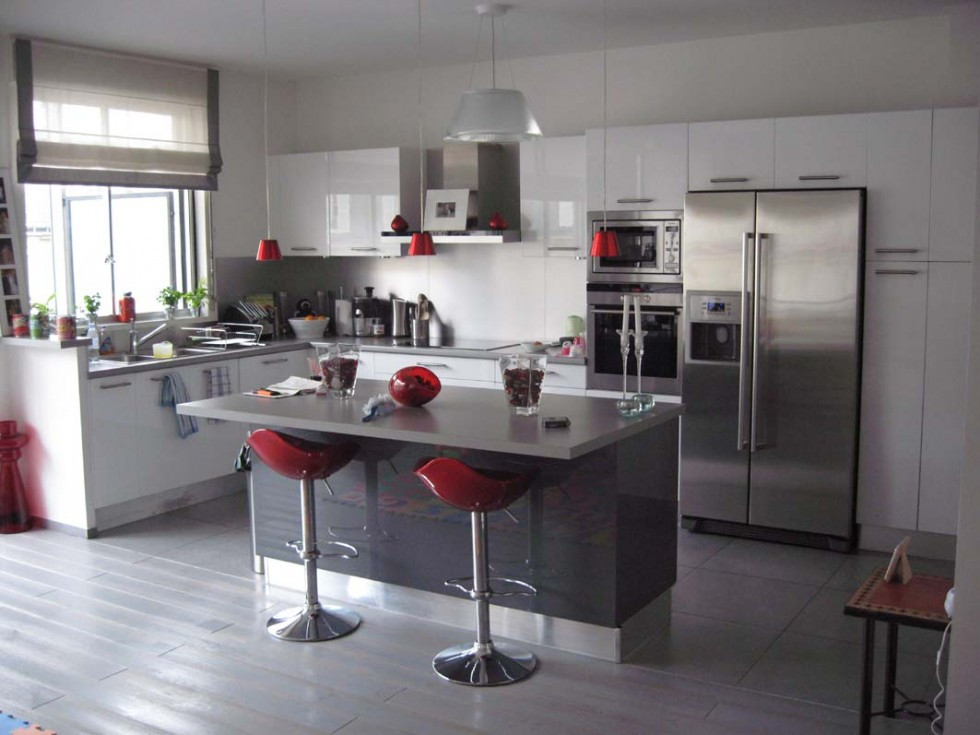 Best ideas about White And Grey Kitchen Ideas . Save or Pin grey and white kitchen ideas inspirational Now.