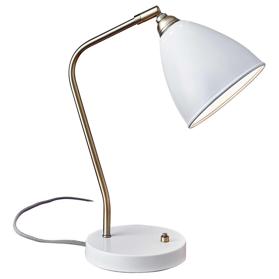 Best ideas about White Desk Lamp . Save or Pin Modern Task Lamps Cadiz White Desk Lamp Now.