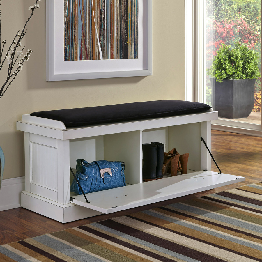 Best ideas about White Entryway Bench . Save or Pin White Entryway Bench Shoe Shelves — Home Design Now.