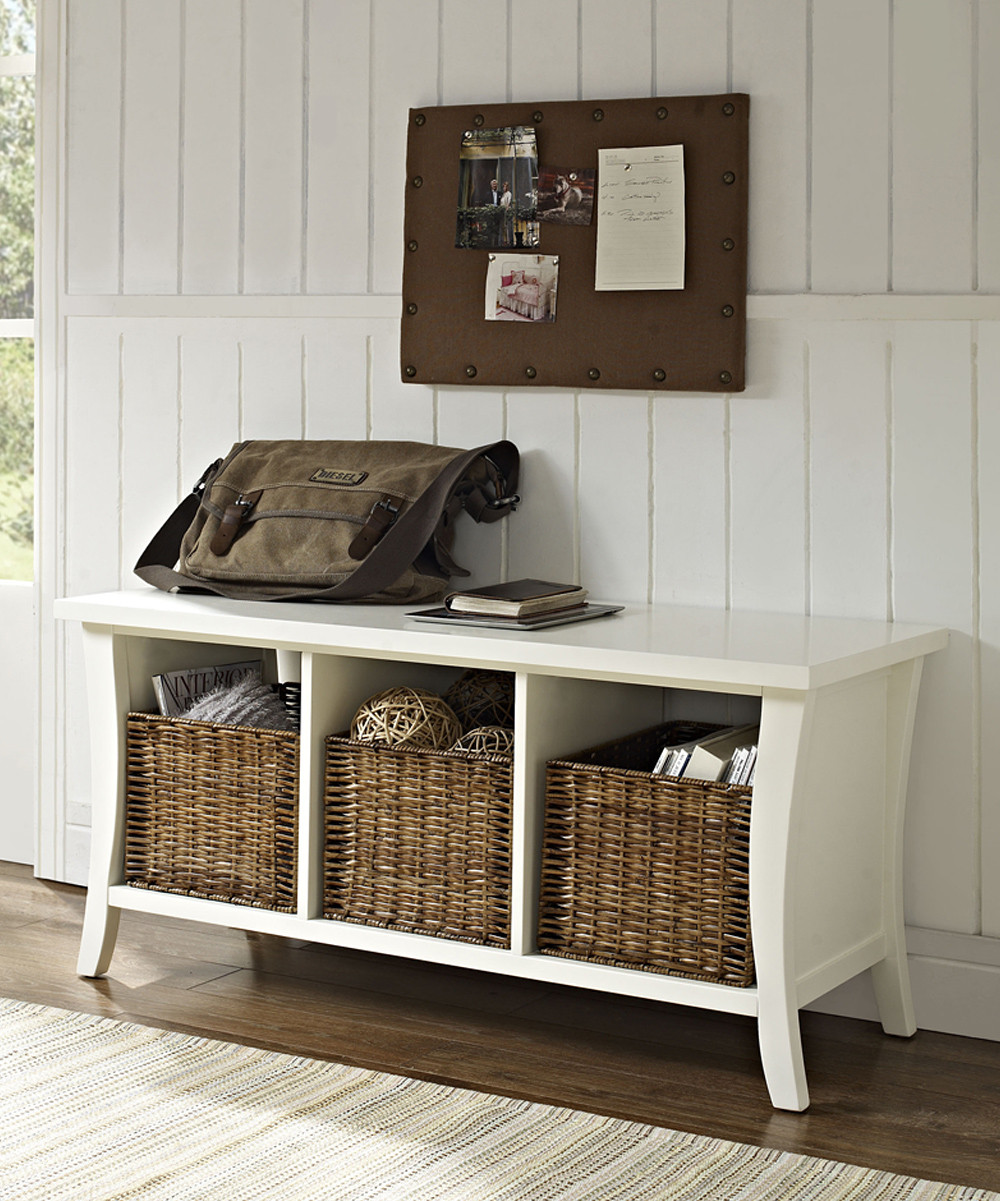 Best ideas about White Entryway Bench . Save or Pin White Entryway Storage Bench Unique — STABBEDINBACK Foyer Now.